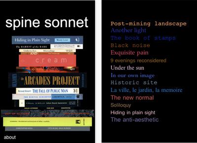 spine sonnet - Jody Zellen