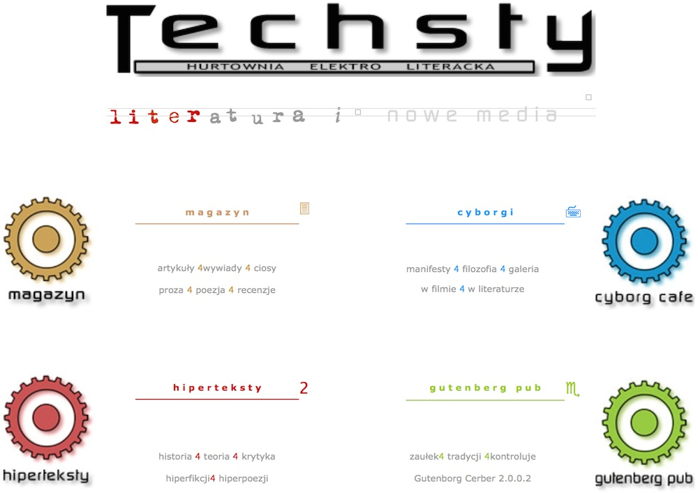 Techsty: home page in 2003